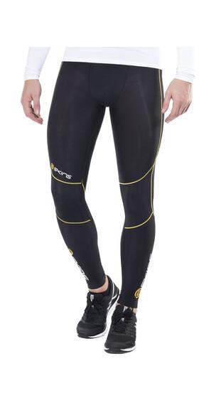 Skins A400 Logo Line Long Tights Men black/yellow